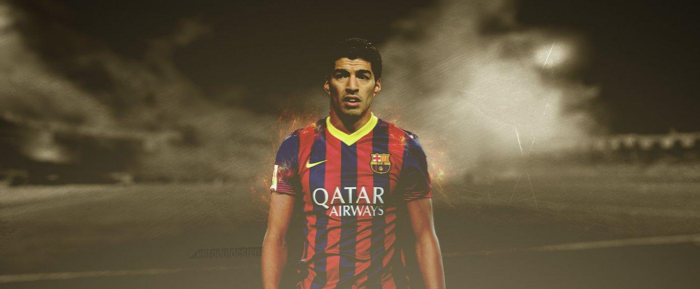 Luis Surez FC Barcelona new striker wallpaper 1389x575