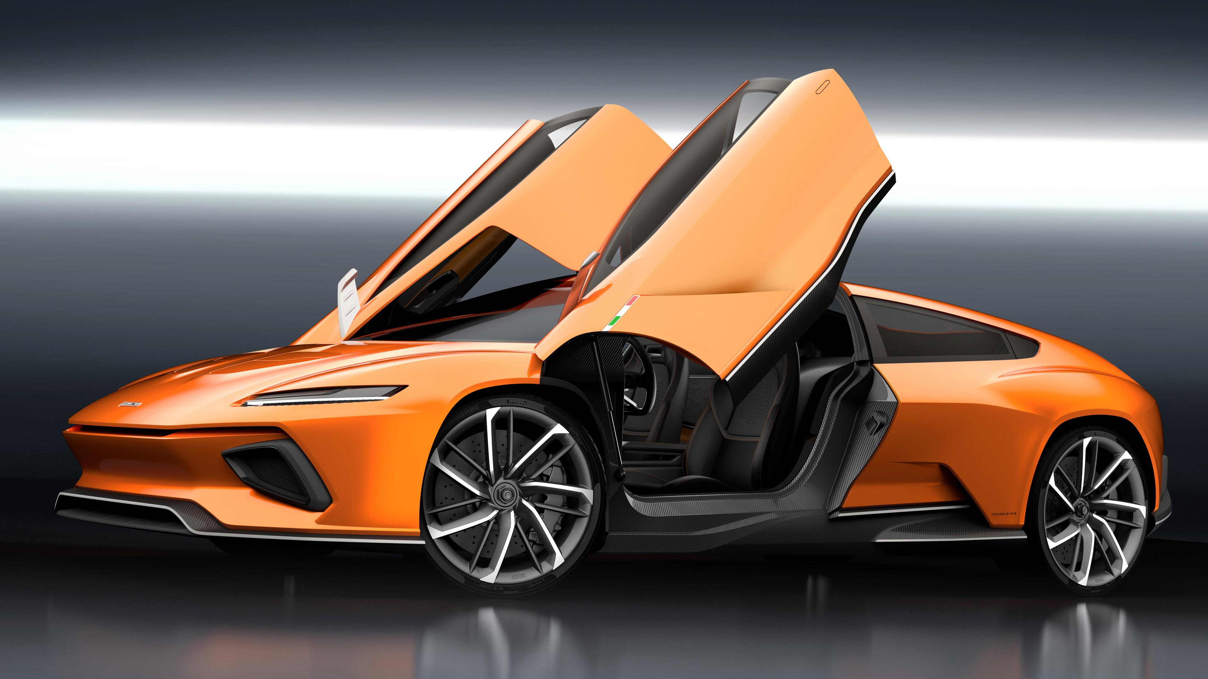Italdesign GT Zero Electric Geneva Auto Show 2016 Wallpaper HD 3840x2160