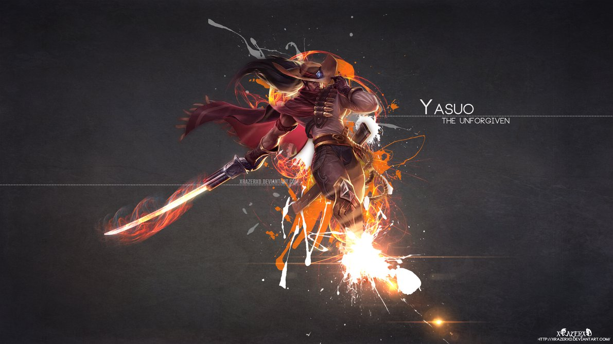 LoL   HighNoon Yasuo Wallpaper HD by xRazerxD 1191x670