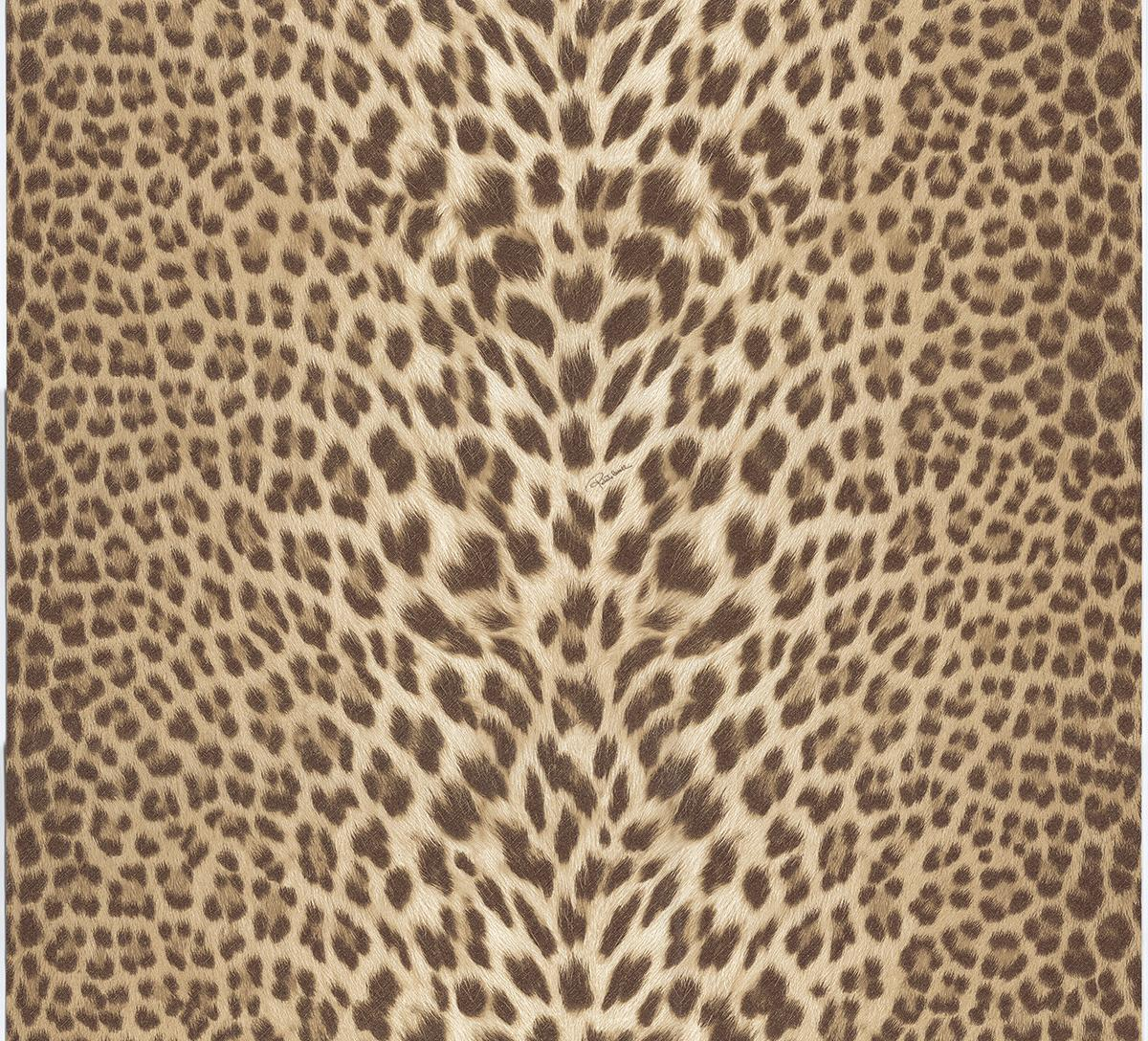 Roberto Cavalli Pantera Cavalli RC15095 Wallpaper BeigeBrown 1200x1088