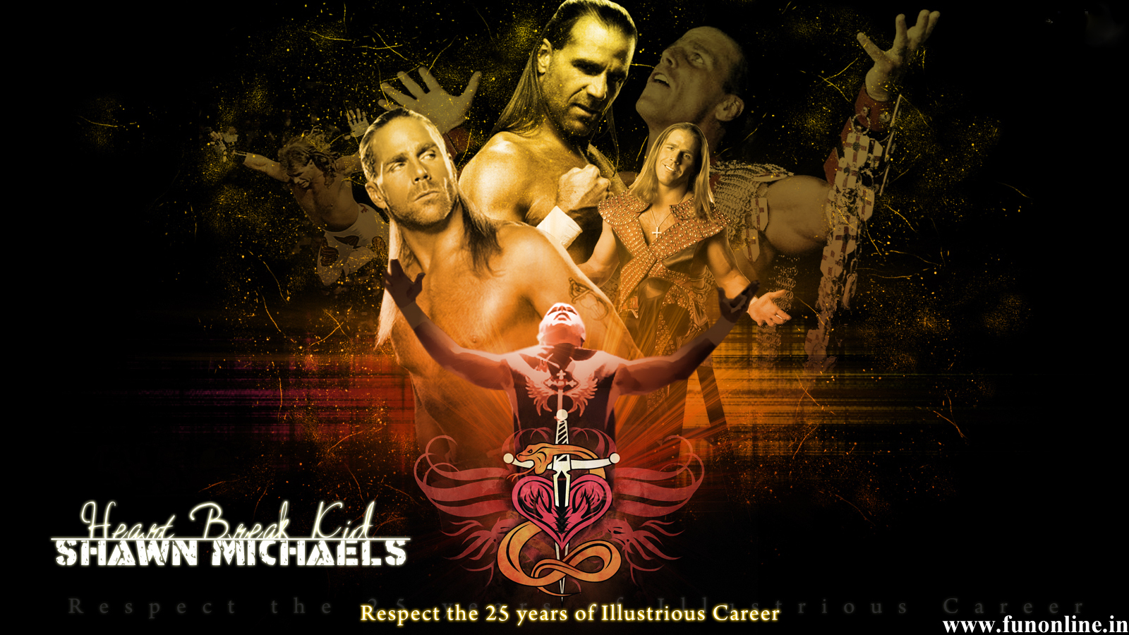 Shawn Michaels Wallpapers WWE HBK Shawn Michaels HD Wallpaper 1600x900