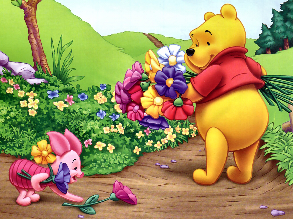 1024768 HD Disney Cartoons Winne The Pooh Wallpapers 1024x768