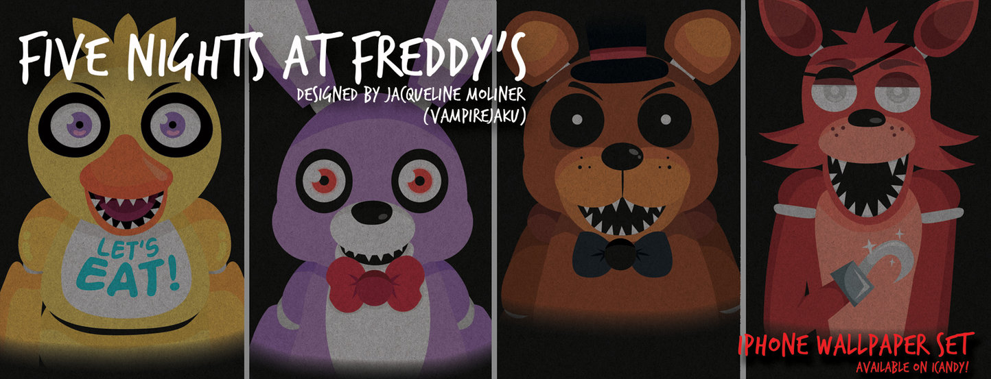 FNAF iPhone Wallpaper Set by VampireJaku 1444x553