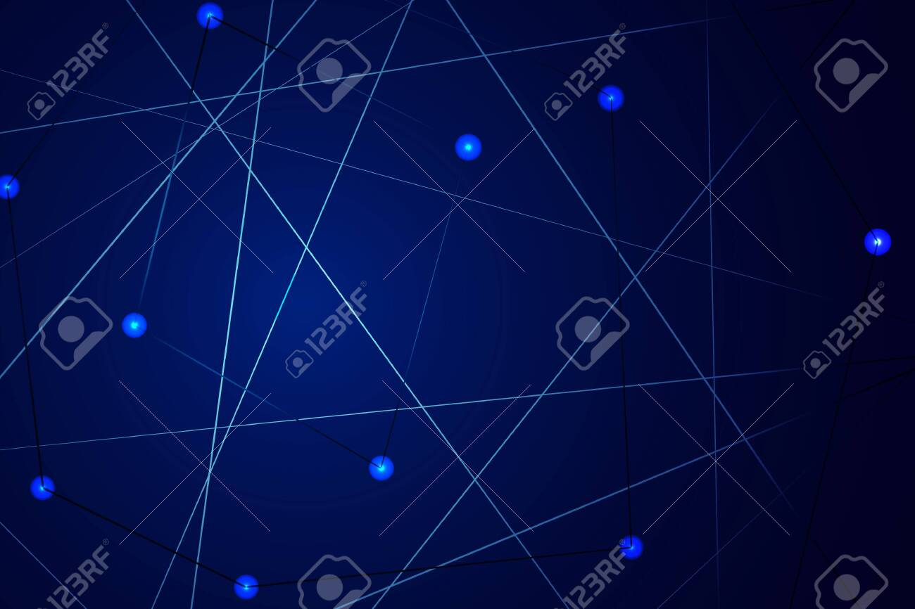 Starry Sky Map Random Schematic Bright Stars On A Blue Background 1300x866