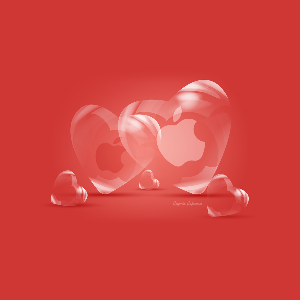 40 Apple iPad2 Wallpapers to wear Valentines Day Themes Tutorial 1024x1024