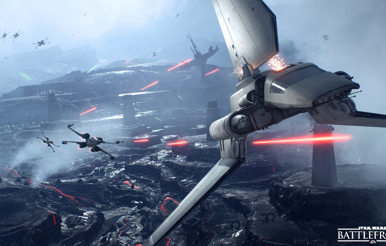 Wallpaper game Electronic Arts DICE X Wing star wars 1332x850