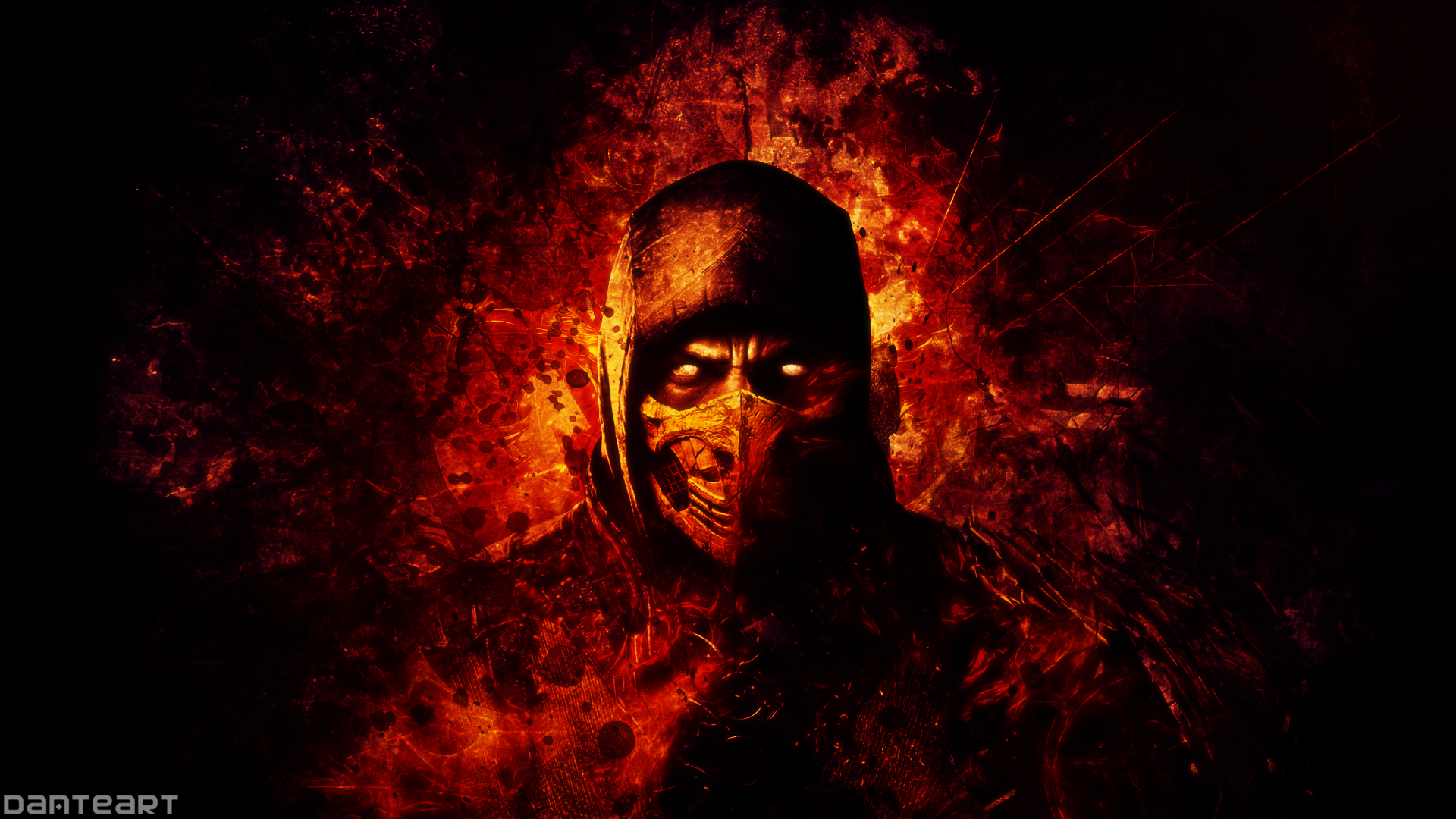 Mortal Kombat X Scorpion Wallpaper by DanteArtWallpapers 1920x1080