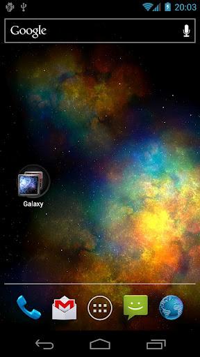 Apps Vortex Galaxy Live Wallpaper iPlayGalaxyY For Samsung Galaxy Y 288x512