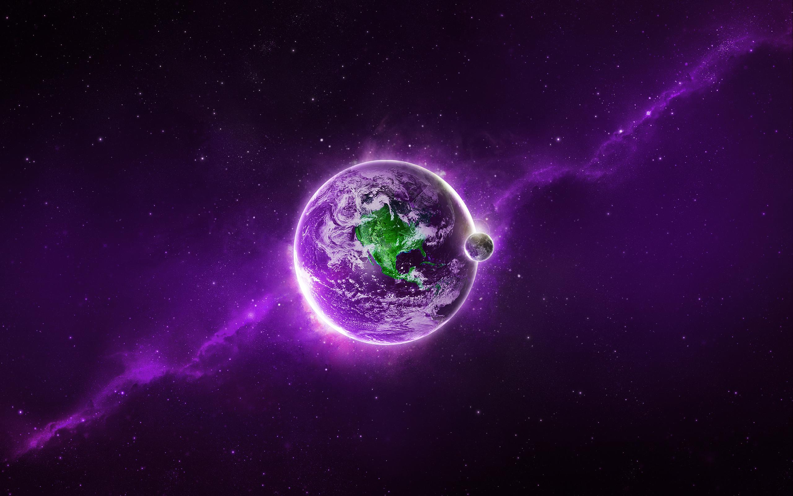 Purple Earth Wallpapers HD Wallpapers 2560x1600