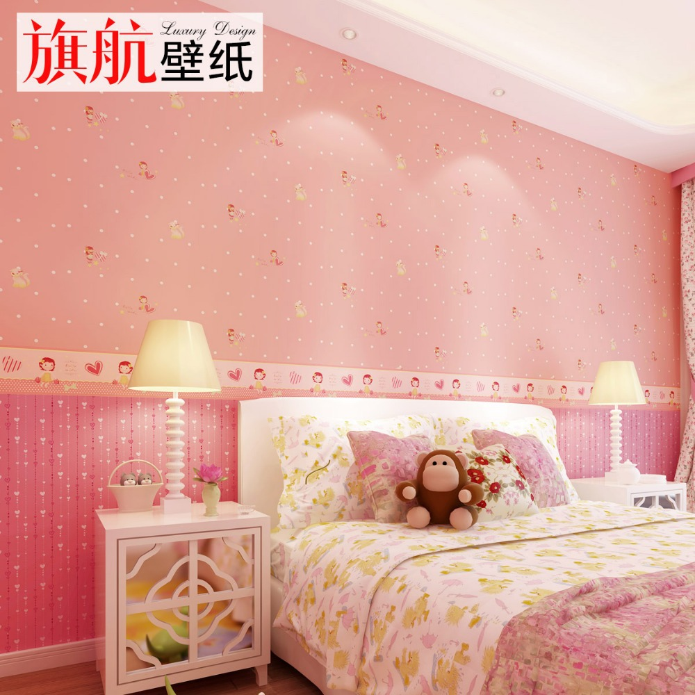 Lovely Carton Non Woven Wallpaper For Your Baby Girl Room InWallpapers . Part 93