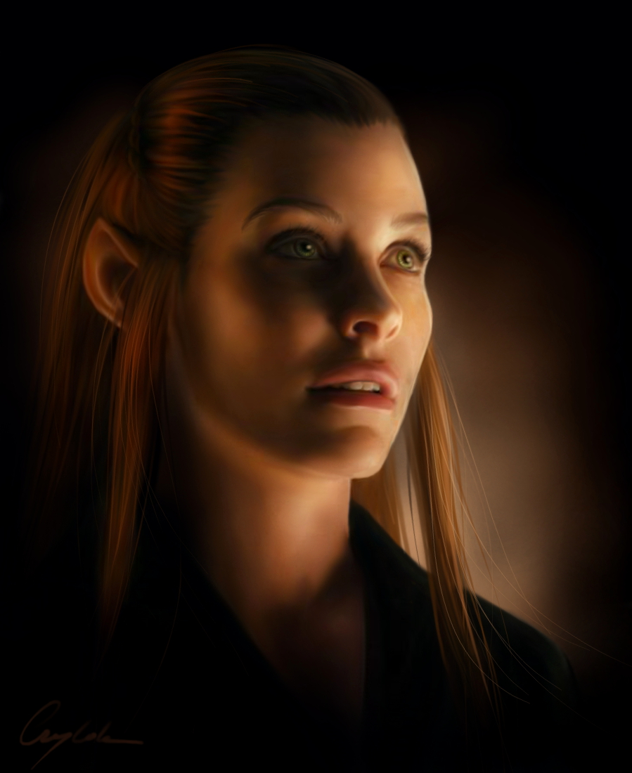 Tauriel Wallpaper Tauriel by aegileif 899x1100
