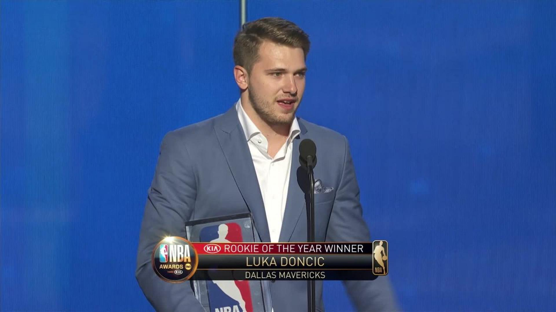 Luka Doncic wins the 2019 Rookie of the Year Award at the NBA 1920x1080