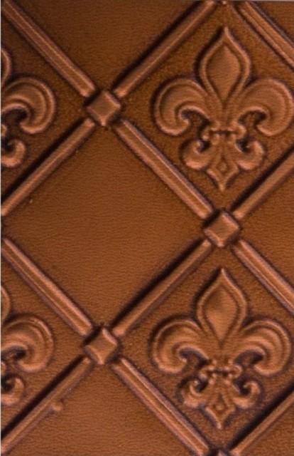 Tin   Backsplash Roll   Fleur de Lis   3 Pattern   Antique Copper 414x640