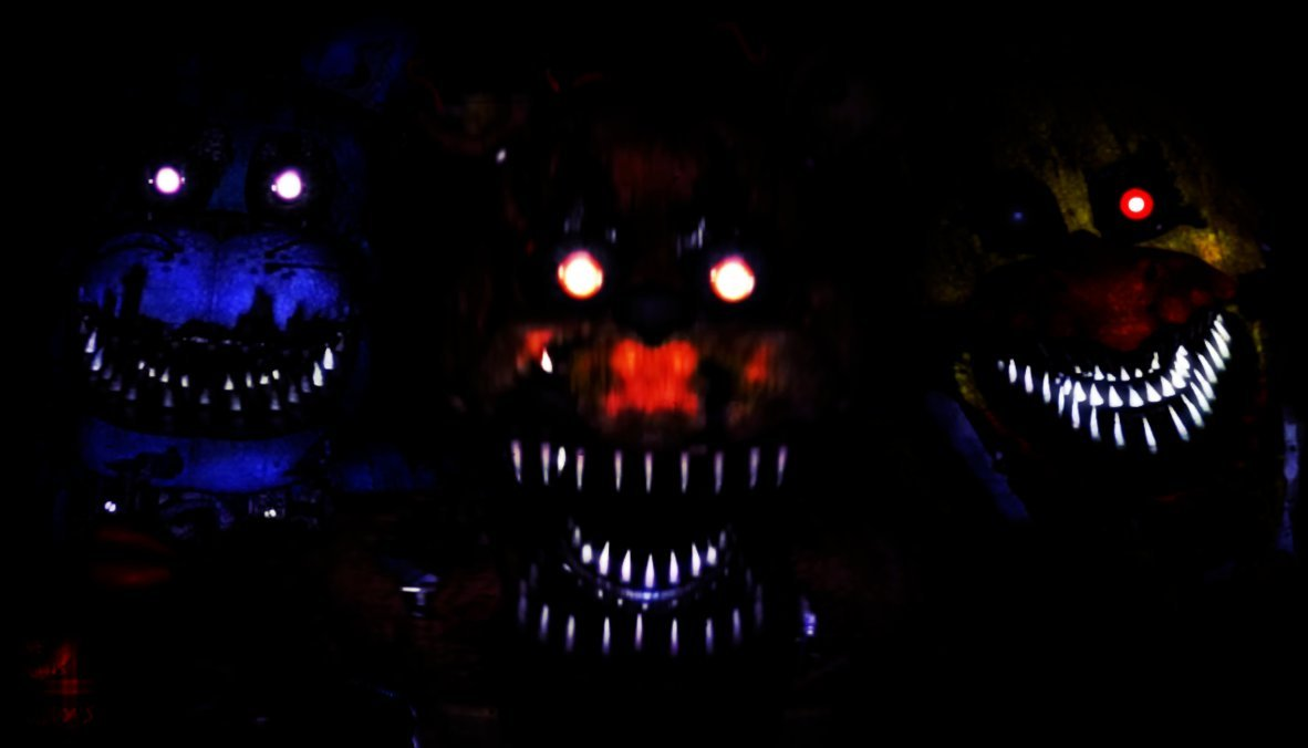 FnaF 4 Wallpaper   Nightmare F B CScary Ver by PeterPack on 1182x676