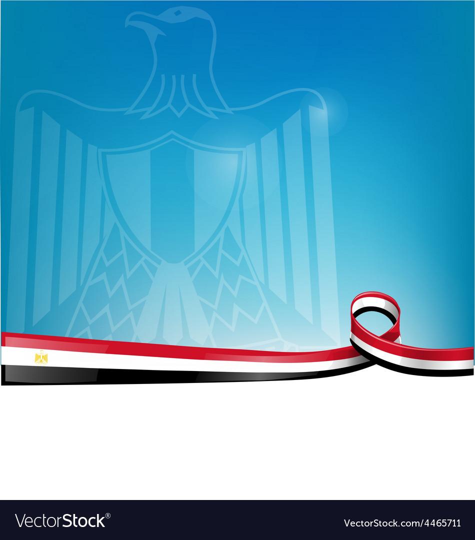Egypt flag on background Royalty Vector Image 950x1080