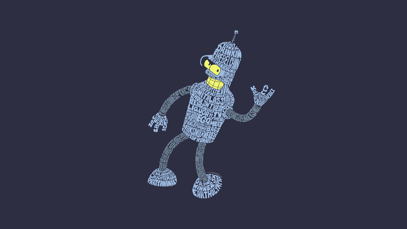 Bender   Futurama wallpaper 17972 1365x768