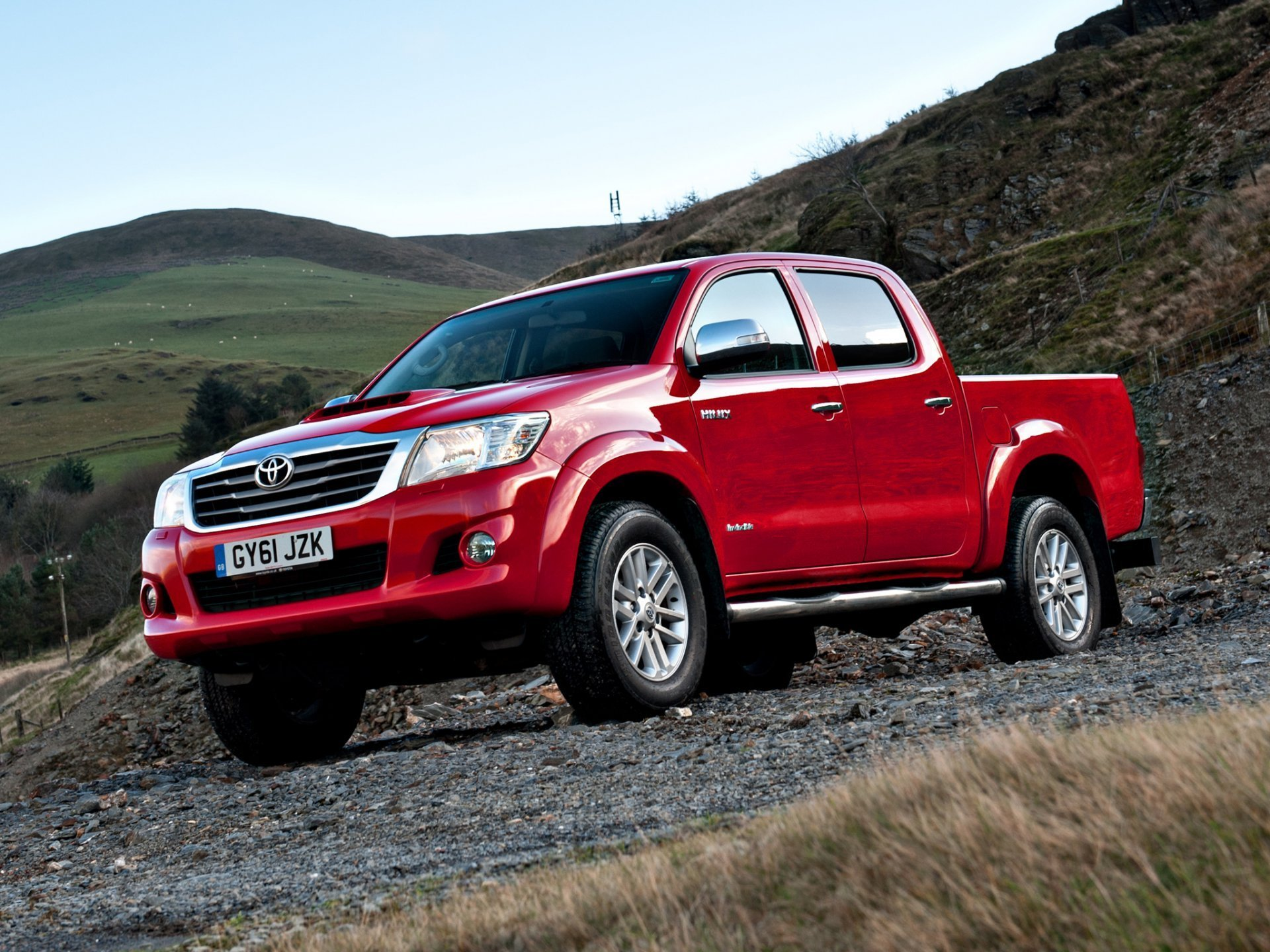 Toyota Hilux Double Cab Uk spec Picup Red Car Auto   Toyota Hilux 1920x1440