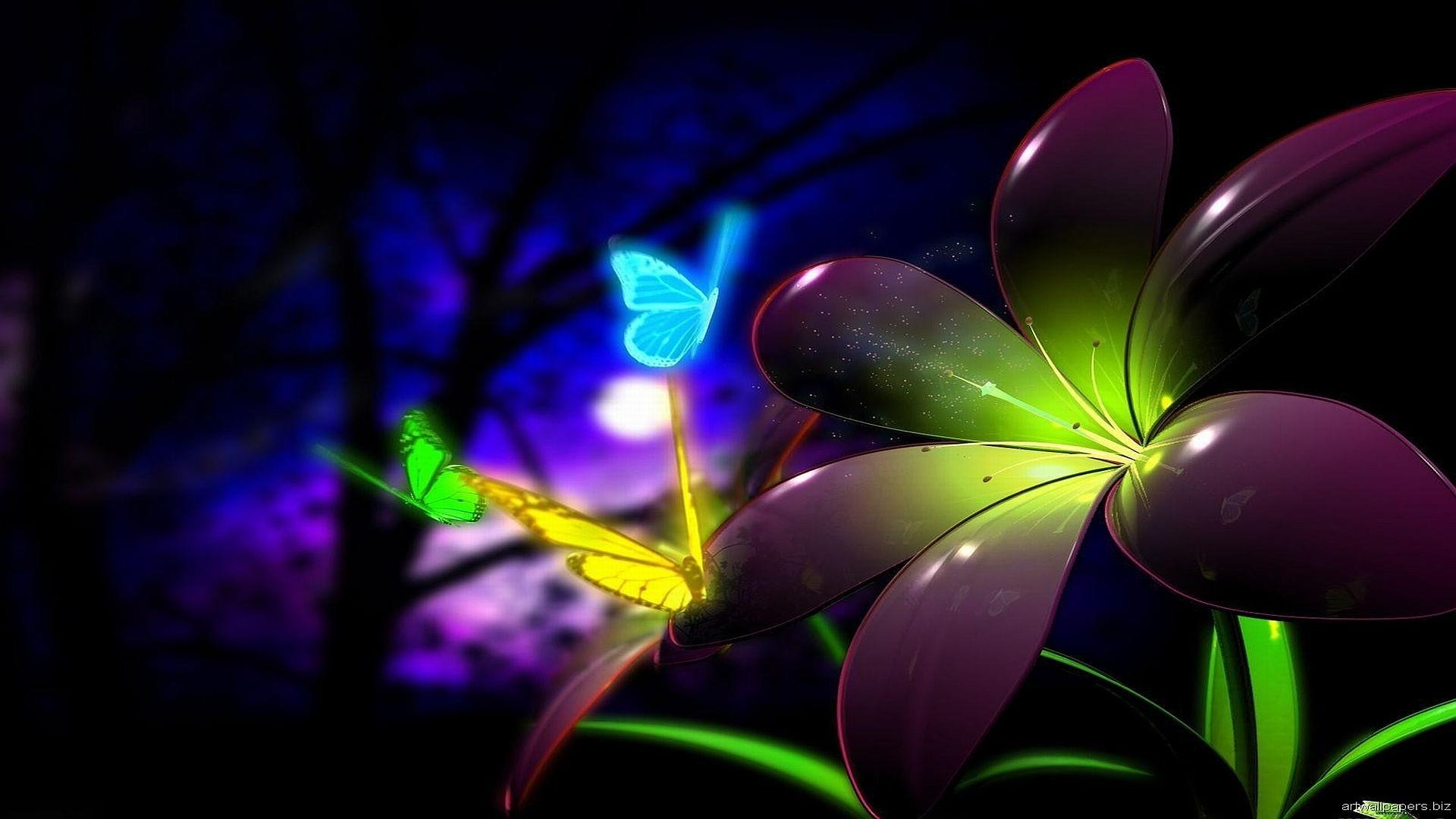 Neon Butterflies Computer Wallpapers Desktop Backgrounds 1920x1080 1920x1080