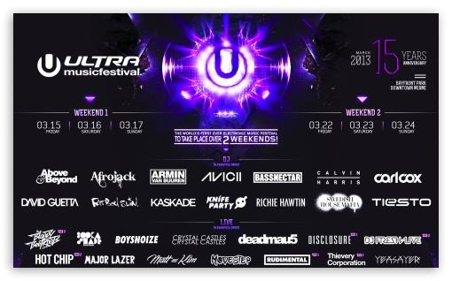 Ultra Music Festival 2013 HD wallpaper for Wide 53 Widescreen WGA 510x318