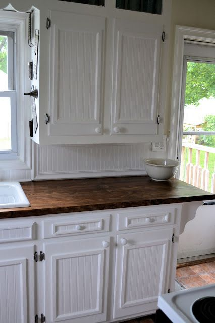 to reinvent flat cabinet doors and drawer fronts Beadboard wallpaper 426x640