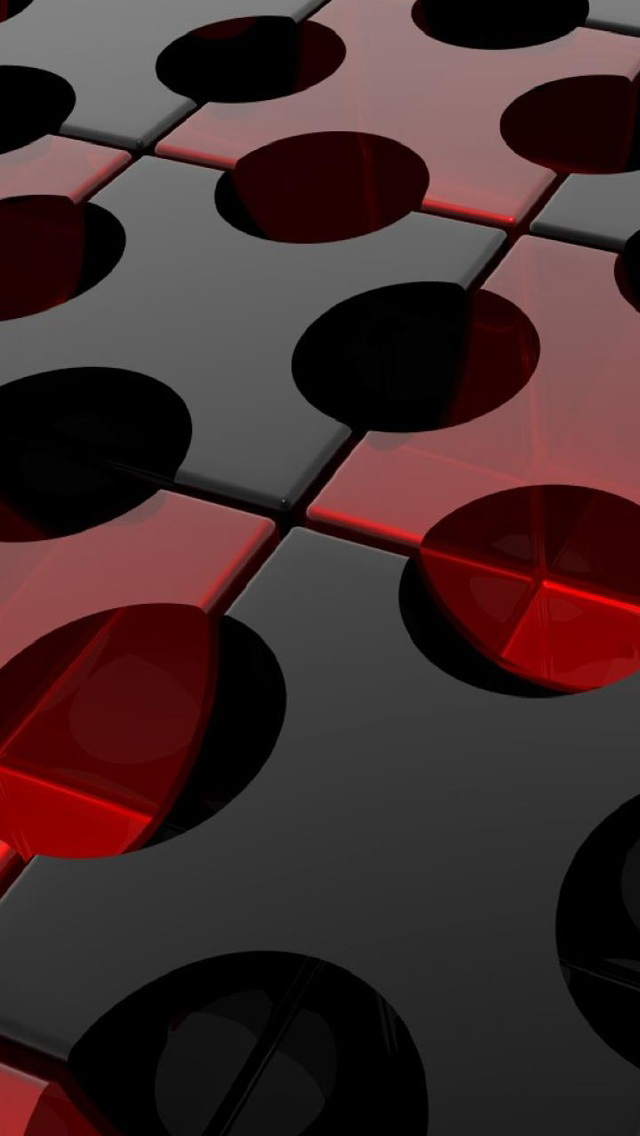 3d Black And Red Iphone Wallpaper: Red And Black IPhone Wallpaper