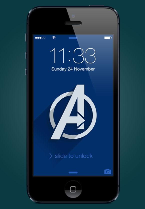 Superhero iPhone wallpapers   Bit of a Geek 580x835