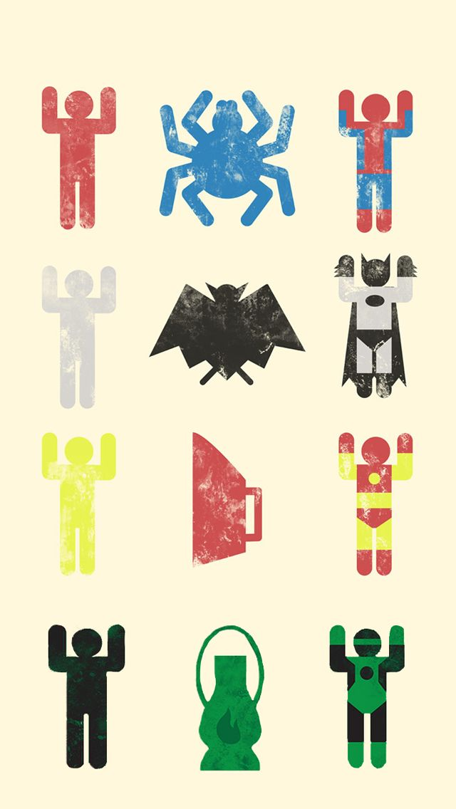 Cute Superheroes Wallpaper Minimal superheroes equation 640x1136
