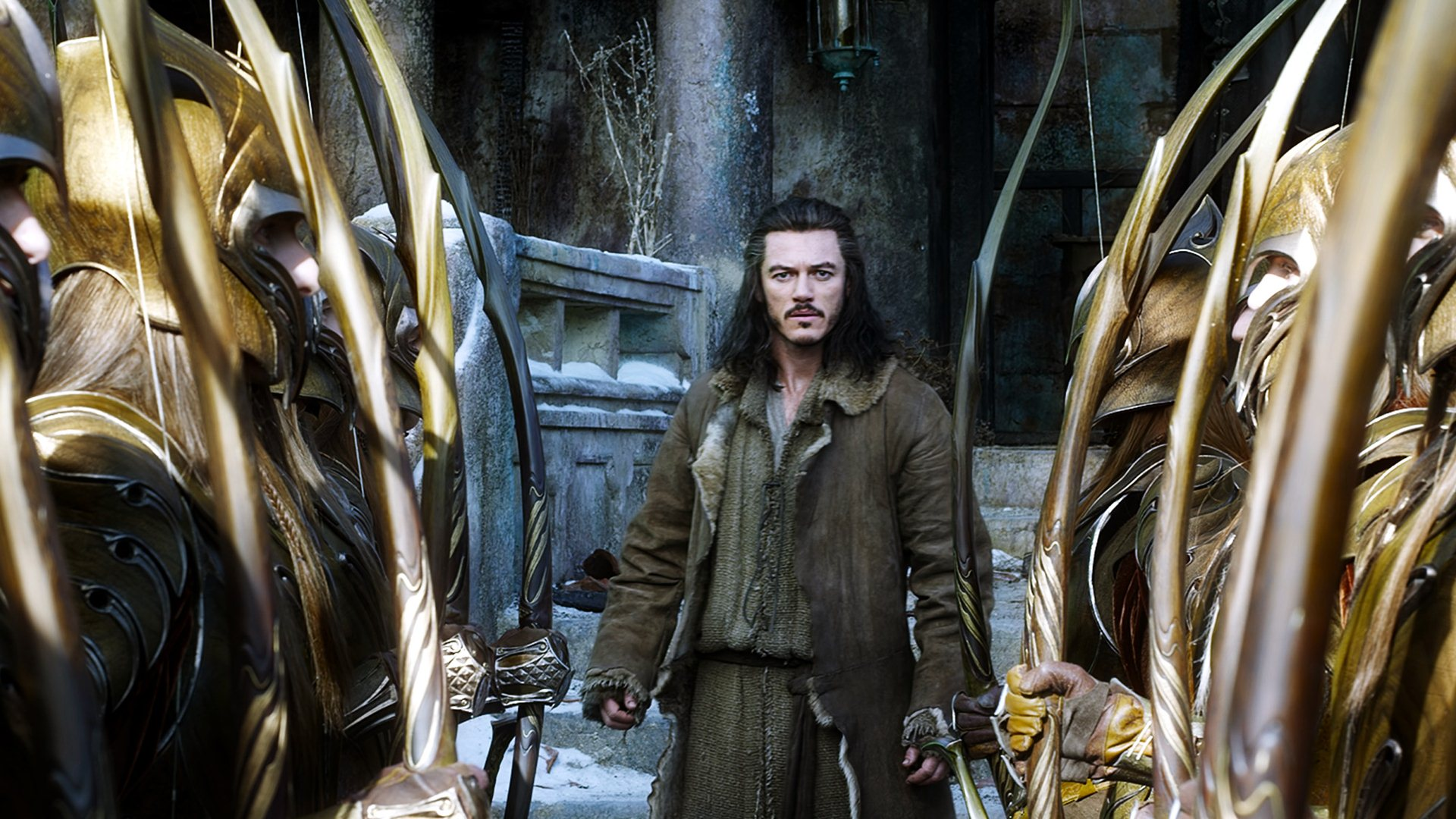 Hobbit The Battle of The Five Armies Movie Luke Evans Wallpaper 1920x1080
