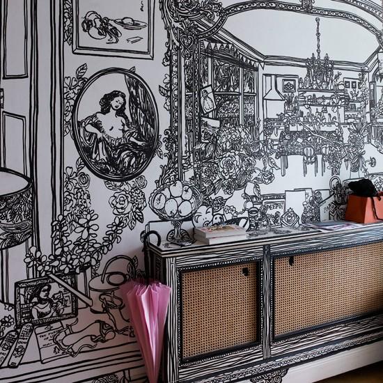 10 wallpaper ideas for hallways housetohomecouk 550x550