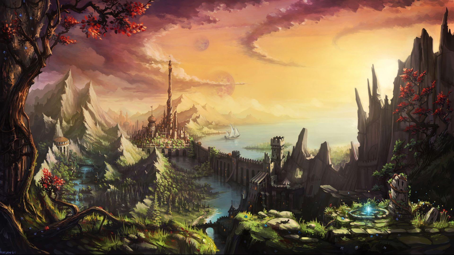 Fantasy Castle Wallpapers 1920x1080
