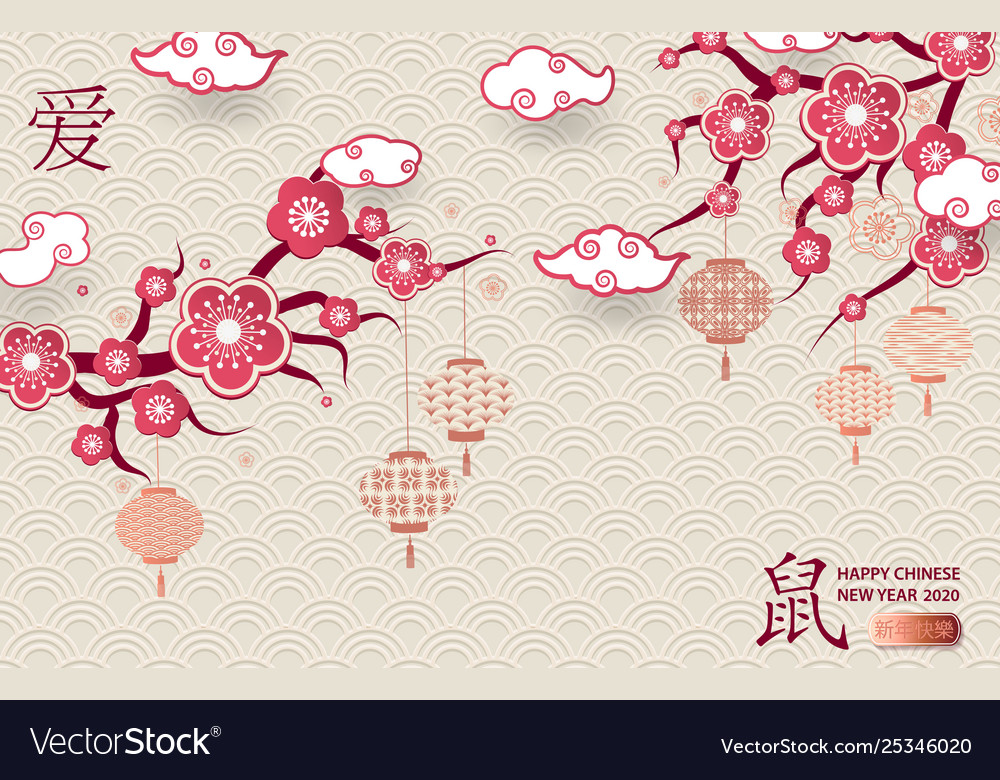 Happy chinese new year 2020 Royalty Vector Image 1000x780