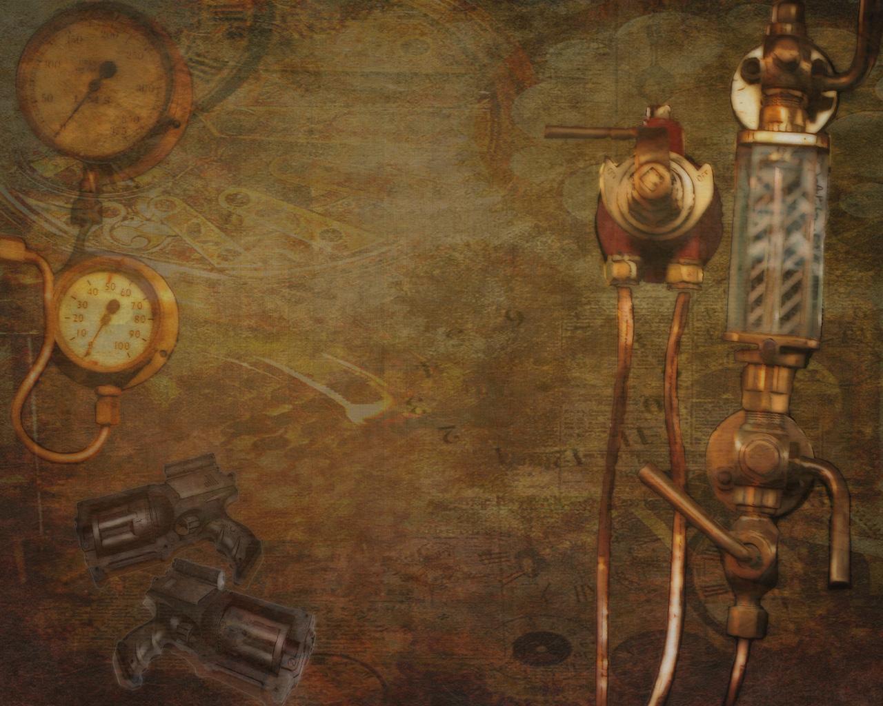 Steampunk desktop background wallpapersafari for Steampunk wallpaper home