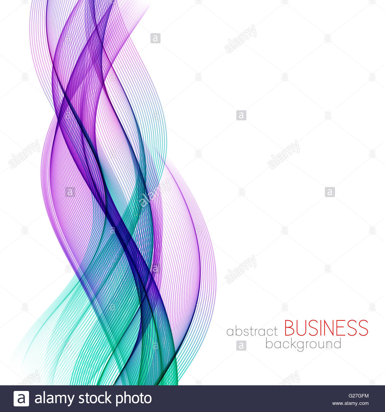 Abstract background blue and purple transparent waved lines for 1300x1390