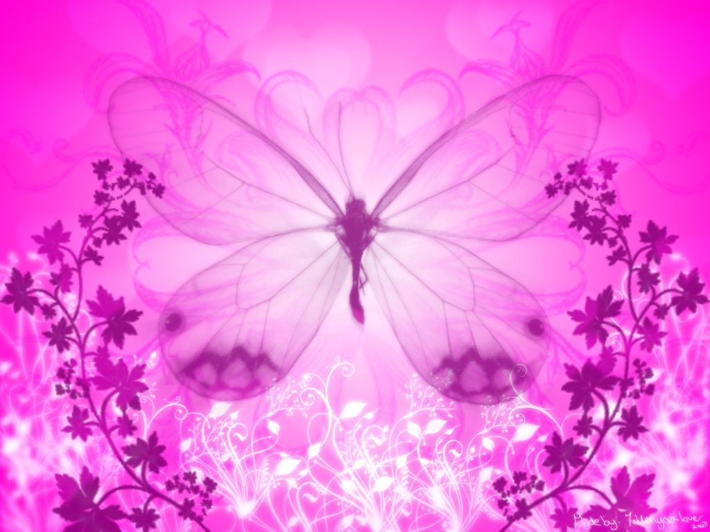Pink Butterfly Wallpaper Widescreen at Abstract Monodomo 1024x768
