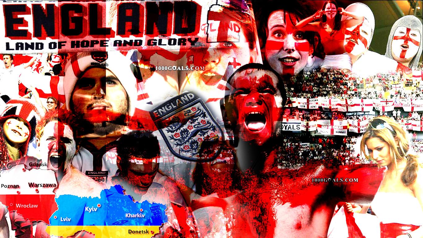 Euro 2012 England national team wallpaper 1 Football   1000 Goals 1366x768