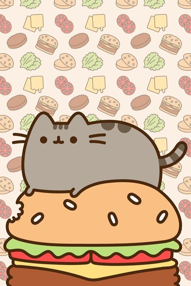 Pusheen wallpaper With images Pusheen cute Wallpaper iphone 640x960