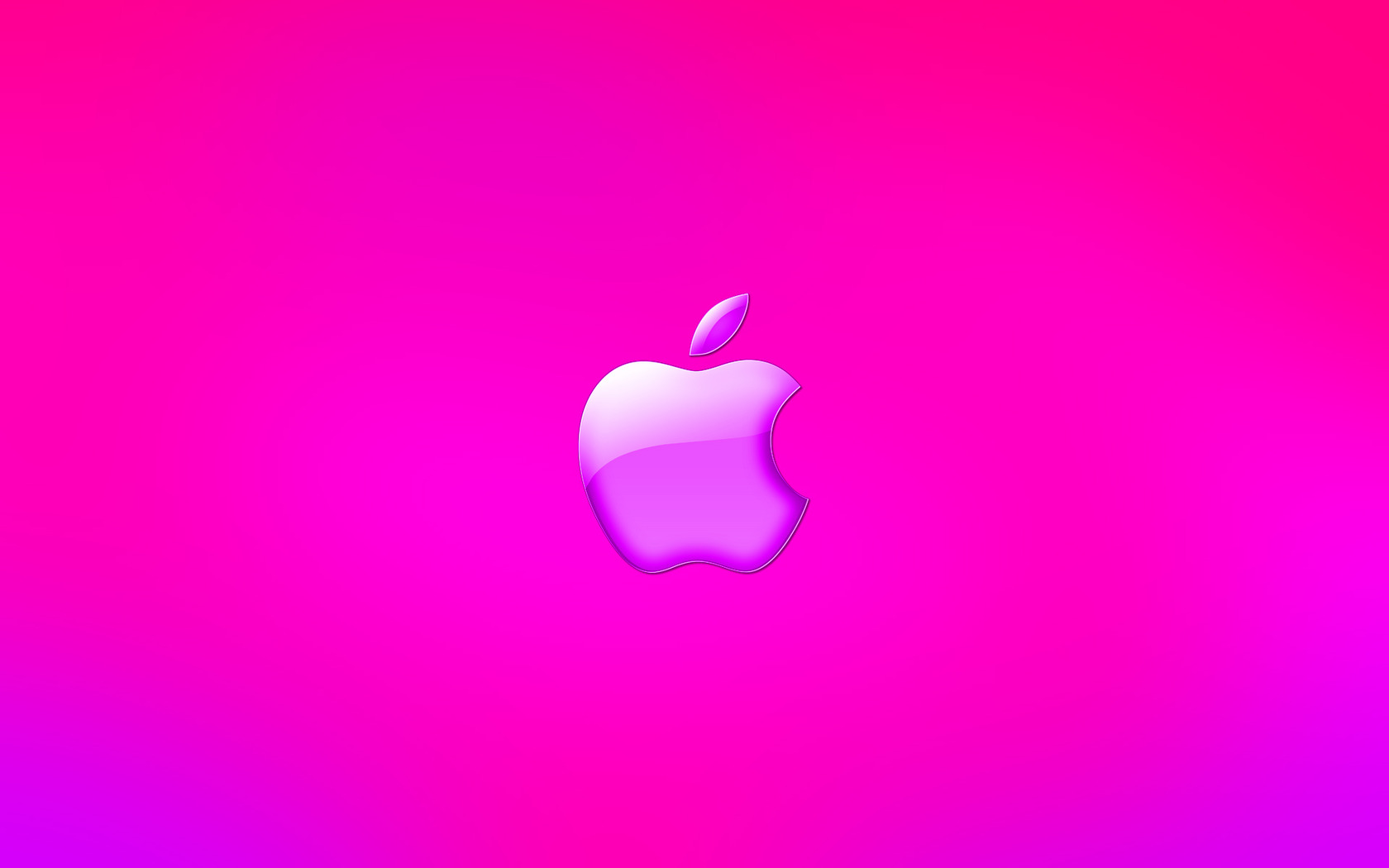 Pink Apple logo wallpaper 4929 1680x1050