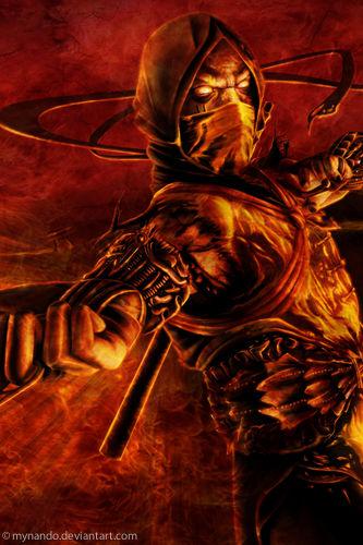 scorpion mortal kombat 11 wallpaper iphone