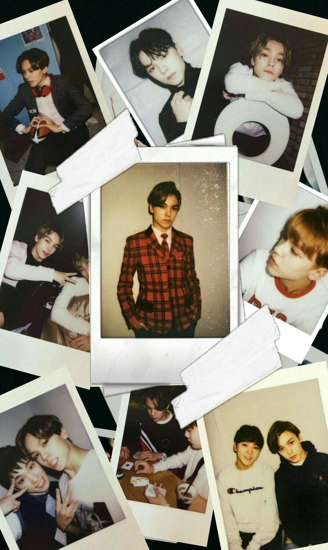polaroid wallpaper 2015983 Seventeen in 2019 Vernon seventeen 1074x1800