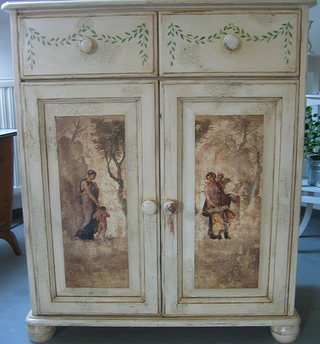 Decoupage furniture Flickr   Photo Sharing 466x500