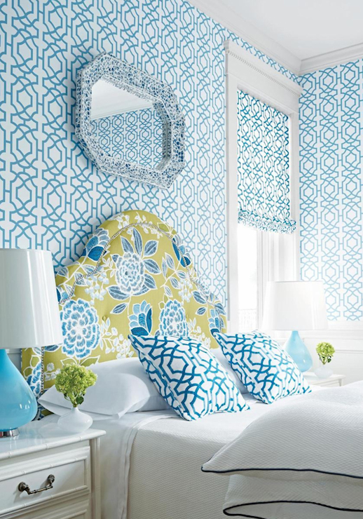 wallpaper blue and white lattice wallpaper blue and white trellis 518x740