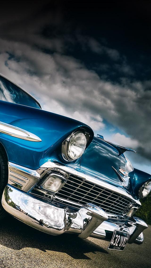 Classic Car Blue Wallpaper   iPhone Wallpapers 640x1136