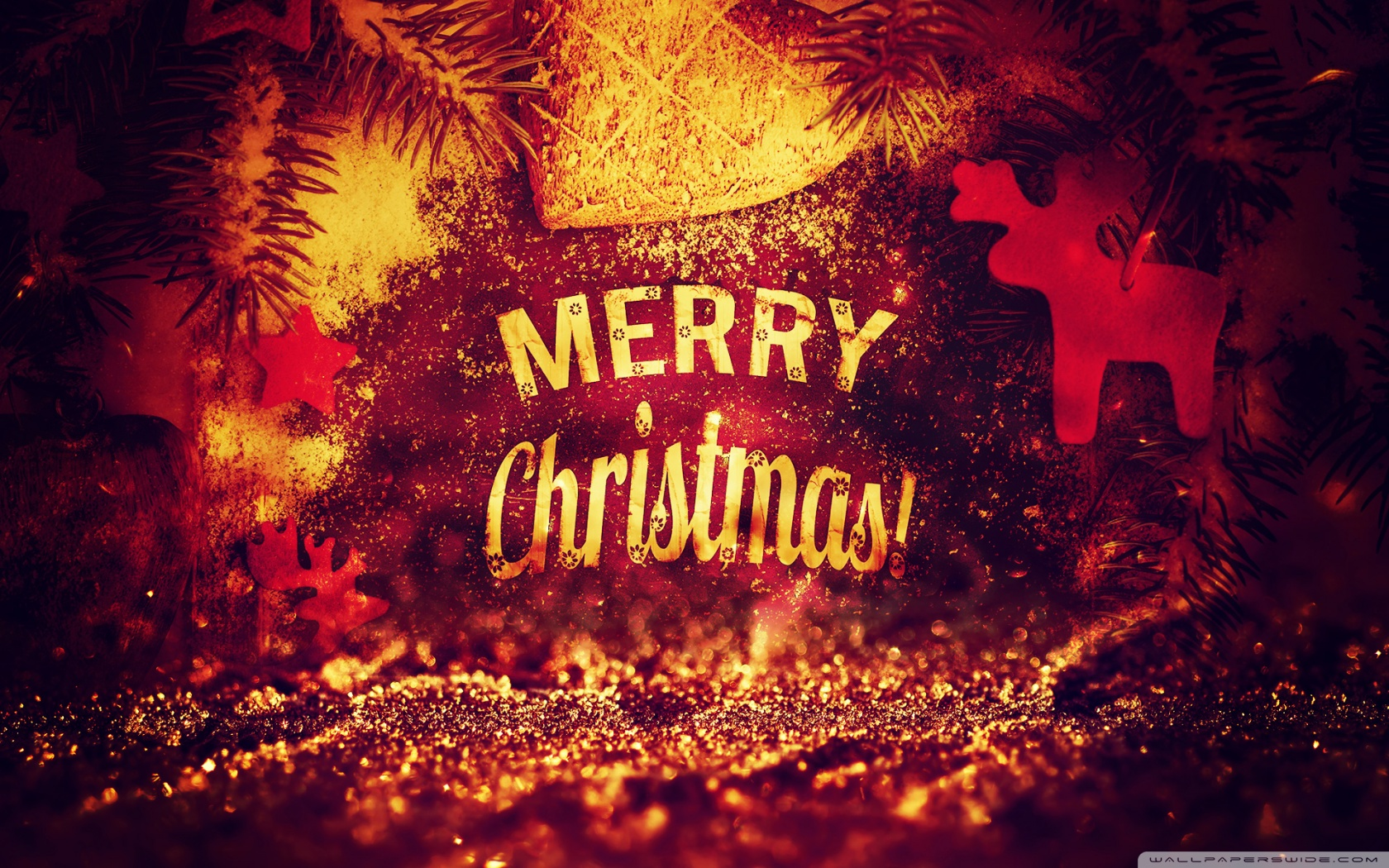 Merry Christmas 2014 by PimpYourScreen 4K HD Desktop Wallpaper 1680x1050