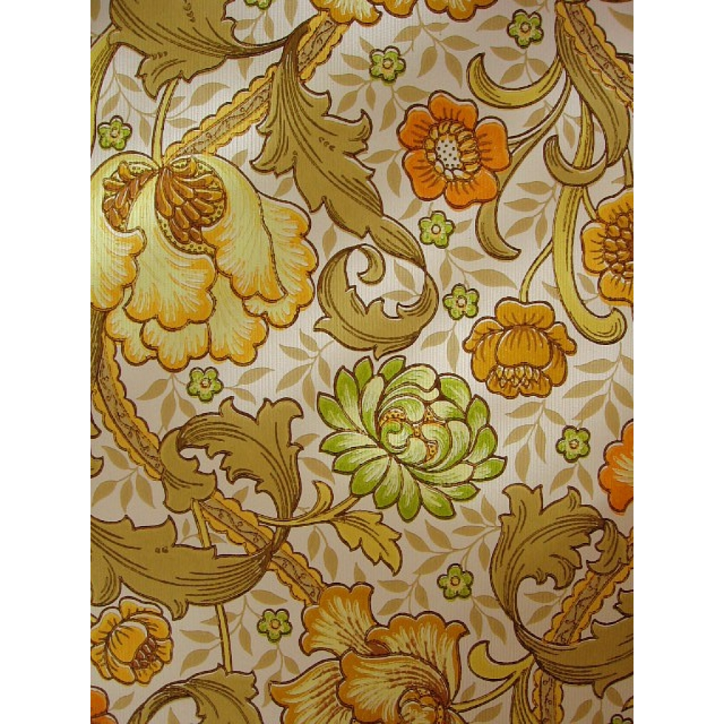 Free Download 1960s Wallpaper 1960s 1970s Floral Wallpaper