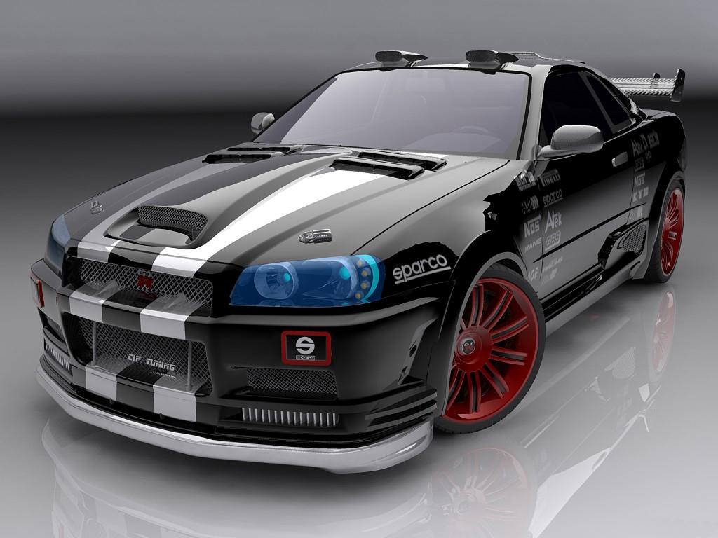 R34 Nissan Skyline GTR Wallpaper 1024x768