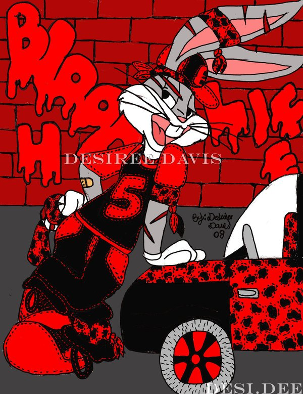 Free Download Gangsta Bugs Bunny By Ladydesidee 600x779 For Your
