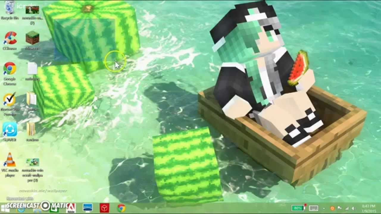 How To Make Your Own Minecraft Background 1280x720