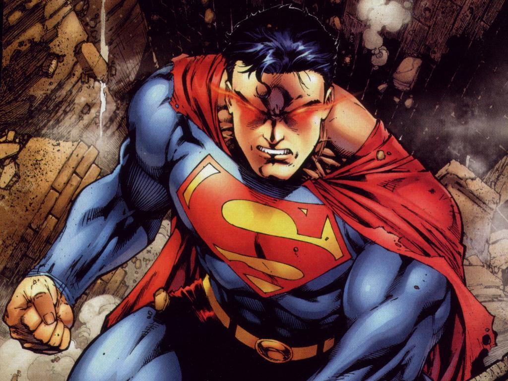 Download Superman Comic wallpaper not happy superman 1024x768