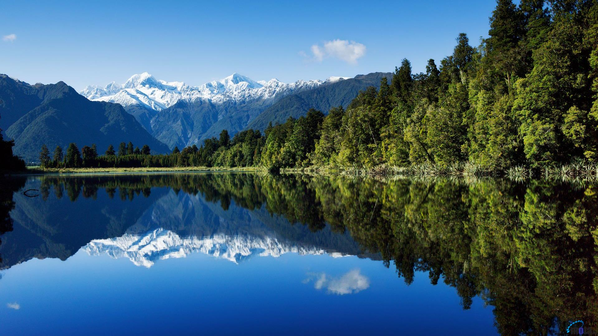 Download Wallpaper Mountains and lake in New Zealand 1920 x 1080 HDTV 1920x1080