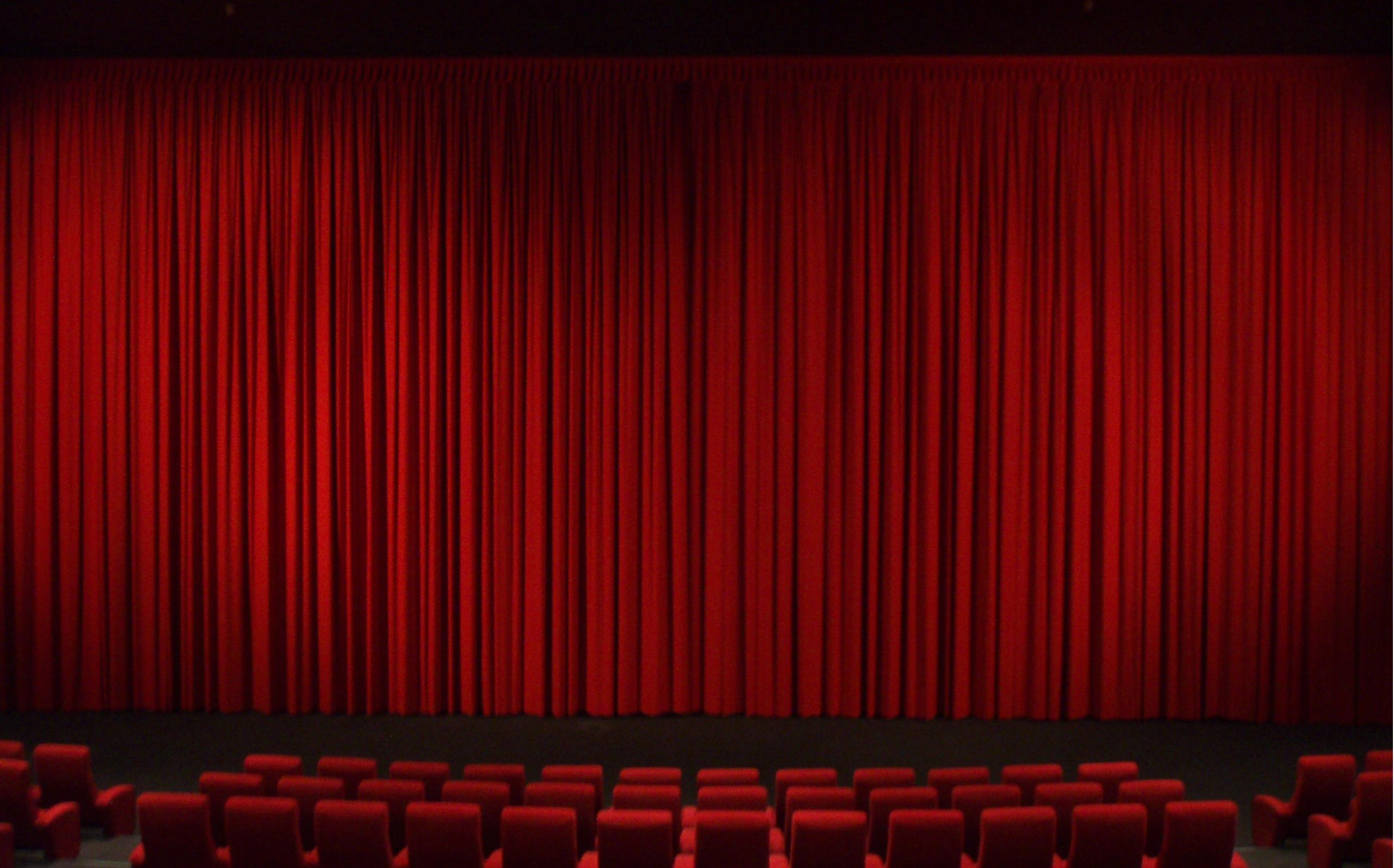 Real theater curtains - Godspell College Park Community Paper